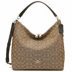 New Coach F55365 Outline Signature Celeste Hobo Crossbody Jacquard Bag NWT