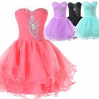 Short Mini Bridesmaid Masquerade Gown Wedding Evening Prom Dress Party Ball New