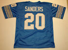 UNSIGNED CUSTOM Sewn Stitched Barry Sanders Blue Jersey - M, L, XL, 2XL on eBay