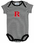 Creative Knitware Rutgers Scarlet Knights Baby Creeper Black and White Striped