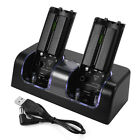 2x Rechargeable 2800mAh Battery Dock Station for Nintendo WII Remote Controller