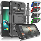 Motorola Moto G4 Play Case with Belt Clip Hybrid Armor Holster Stand Phone Cover