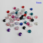8mm Round Flatback Rhinestone Acrylic Diamond Scrapbook Crafts DIY Decoration