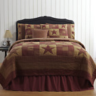 3-pc NINEPATCH STAR Primitive Quilt Set TWIN QUEEN CAL KING PRICE MATCH PLUS VHC