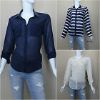 ABERCROMBIE&FITCH WOMEN'S COBY SHINE COLLAR SHIRT SIZES  S, M, L