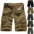 Summer Men's Cotton Work Baggy Sports Shorts Pants Casual Cargo Combat Trousers