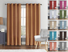 VCNY Home Ultra Luxurious Faux Silk Grommet Curtain Panels - Assorted Colors