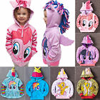 My Little Pony Wing Girls Toddler Kids Hoodie Sweatshirt Hooded Zip Coat Jacket