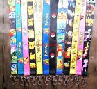 lot Pokemon Pikachu Mobile Phone LANYARD Key chain ID Neck Strap Charms