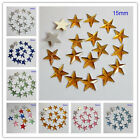 15MM Five Star Flatback Rhinestone Acrylic Diamond Scrapbook DIY Craft