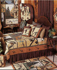 PINECONE Lodge Woodsy Patchwork Quilt Set * 4-pc TWIN * 6-pc QUEEN * 6-pc KING