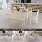 Dining Table and 2 Chairs / 4 Chairs Bench Set Wooden Furniture Bistro Kitchen