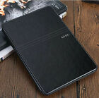 Ultra-thin Luxury Brand PU Leather Stand ID Card Case Smart Cover For Apple iPad