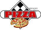 (Choose Your Size) Pizza DECAL Food Truck Restaurant Concession Vinyl Sticker