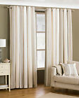 "Broadway Beige Natural Stripe Fully Lined Eyelet Curtains 46"" x 72"""