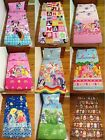 New Minnie, Little Pony, Smurf, Frozen, Babushka Cot fitted sheet + pillowcase