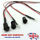 Constant 12V 3mm LED Diode Light 20cm Cable Pre Wired Milky With Plastic Holder