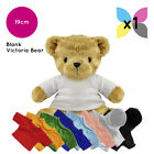 Blank Victoria Teddy Bear Soft Toy Plain T-Shirt Hoody for Transfer Sublimation