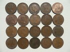 LOT OF 20 OLD ENGLISH HALF PENNY COINS OF ENGLAND   MIX OF R