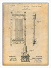 1898 Billiards Pool Cue Rack Patent Print Art Drawing Poster 18X24 $24.99 USD