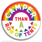 Brainbox Candy 'Camper' badge funny novelty joke cheap gift hen stag do tents