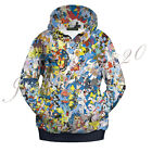 Pokemon Cosplay Anime Costume Pikachu Coat Sweatshirt Hoodie Jacket Tops Sweater