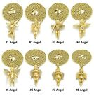 Mini Micro Angel Piece Pendant Rope Chain 14K Gold Plated Necklace