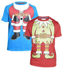 New Men's Designer Duke D555 'Merry' Xmas Tshirt Regular Sizes 3D Bells