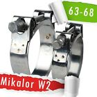 63-68mm | Mikalor W2 | Stainless | QTY 1-5-10 | Hose Clip | Exhaust Clamp |