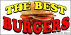 (CHOOSE YOUR SIZE) The Best Burgers DECAL Concession Food Truck Vinyl Sticker