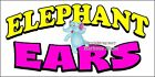 (Choose Your Size) Elephant Ears DECAL Food Truck Restaurant Concession