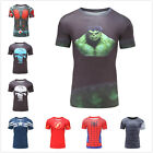 3D Print T-shirt Costume Short Sleeve Superman Gym Athletic T-shirt Fitness New