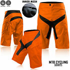MTB Cycling Short BMX Off Road Downhill Bicycle Short High Quality Design Orange