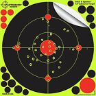 "Adhesive Shooting Targets 12"" Splatter Glow Shot Gun and Rifle Paper Target Pack"