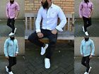 COLOURS OF SUMMER YOUNG FASHION SLIM FIT SPORT BUSINESS HERRENHEMD LEINEN LOOK
