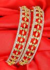 337 Indian Bollywood Gold Plated CZ Stone Bangles Bracelets Fashion Jewelry