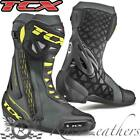 TCX RT RACE BLACK FLUO YELLOW MOTORCYCLE MOTORBIKE BIKE BOOTS REINFORCED SOLE