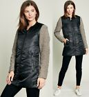 Women's Warm Zip Up Parka Padded Wool Coat Long Cold Weather Jacket with Pockets