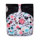 KaWaii Baby One Size Printed Snap Cloth Diaper+1 Large (5 LAYERS) BAMBOO Insert