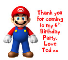 PERSONALISED BIRTHDAY PAPER PARTY BAGS SWEET BUFFET FAVOUR FAVOR SUPER MARIO
