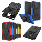 Rugged Tough Shockproof Hard Tire Tread Rubber Case Cover Stand for LG Phone