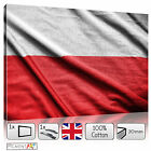 LARGE POLISH FLAG OF POLAND COUNTRY - CANVAS WALL ART PRINTS PICTURES FRAMED
