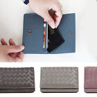 WEAVE CARD CASE (BUSINESS / CREDIT) ~[made in KOREA] Genuine Leather Womens