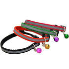 "4X Reflective Small Dog Puppy Cat Collar with Bell Neck for 8-13"" Adjustable"