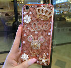 Women Lady Bling Diamond Crystal Ring Holder Stand Kickstand TPU Gel Case Cover