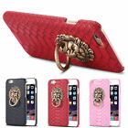 For Apple iPhone 7 &7Plus 3D Lion Head Metal Ring Stand Holder Back Case Cover