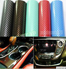 Full Roll 2D High Gloss Carbon Fiber Vinyl Film Wrap Auto Sticker Sheet Decal