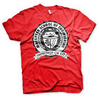 MacGyver Mens T-Shirt Red School of Engineering Retro 80s TV Series Official NEW