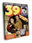 The 39 Steps 1935 Retro Classic Movie WALL FRAMED CANVAS PRINT