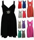NEW WOMENS LADIES PLUS SIZE SLEEVELESS EVENING PARTY SHORT BUCKLE MAXI DRESS8-26